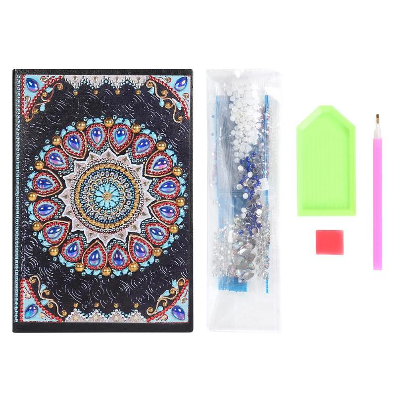 DIY Mandala Special Shaped Diamond Painting 50 Sheets A5 Office Notebook For Children Gift