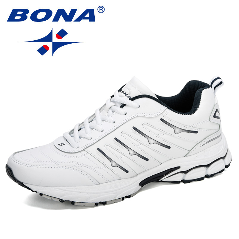 BONA 2020 New Arrival Action Leather Sneakers Sports Shoes Men Jogging Shoes Man Running Shoes Outdoor Walking Shoes Comfortable