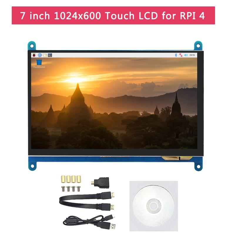 Raspberry Pi 4 Модель B ЖК комплект + 7 дюймов сенсорный экран + держатель + 64 32 Гб sd карта + вентилятор + радиатор + мощность + Micro HDMI для Pi 4 - 2