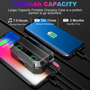 Image 3 - T9 TWS True Wireless Earbuds 7000mAh Bluetooth 5.0 Earphone IPX7 Waterproof Headphones with Noise Cancelling Microphone  Headset