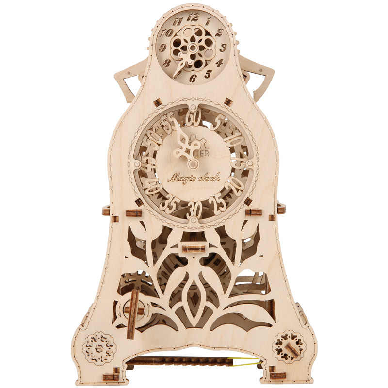 خشبي الميكانيكية انتقال نموذج ماجيك البندول الموقت DIY بها بنفسك الإملائي إدراج ثلاثية الأبعاد نموذج لغز التدريب العملي على لعبة نموذج الميكانيكية