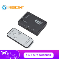 Conmutador de salida 3 en 1 con 3 puertos, conmutador automático 3x1 HDMI, divisor 1080p HD 1,4 con Control remoto para HDTV XBOX360 PS3