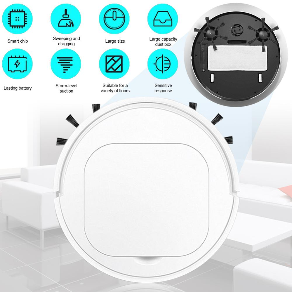 3-in-1 Ultra-thin Vacuuming Sweeper Robot Family Cleaning Robotic Vacuum Cleaner Household Appliances