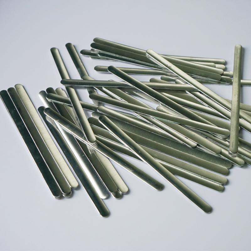 100 Pcs Flat Aluminum Wire - Aluminum Nose Bridge Strip DIY Making Accessories Crafts