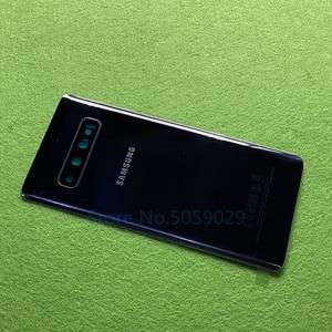 Image 2 - For Samsung Galaxy S10 Plus S10+ G9750 S10 G9730 S10e G970 Battery Back Cover Door Housing + Rear Camera Glass Lens Frame