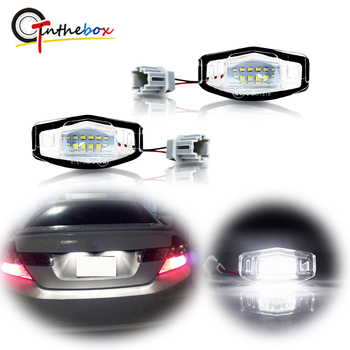 GTinthebox Error Free Xenon White LED Car License Plate Lights For Honda Civic Accord Pilot, Acura MDX RL TL TSX RDX ILX etc 12V image