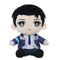 30cm Plush Anime Movie Detroit: Become Human Connor Soft Stuffed Creative Sitting Plush Doll Gift Baby Sleeping Doll Decor Toys