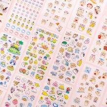 Mohamm 6 unidades/pacote kawaii dos desenhos animados animal gato urso pequeno coreia adesivo flocos acessórios de escritório estacionário material escolar
