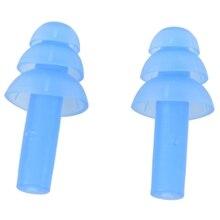 Пара плавания погружения гибкие силиконовые беруши Беруши синий