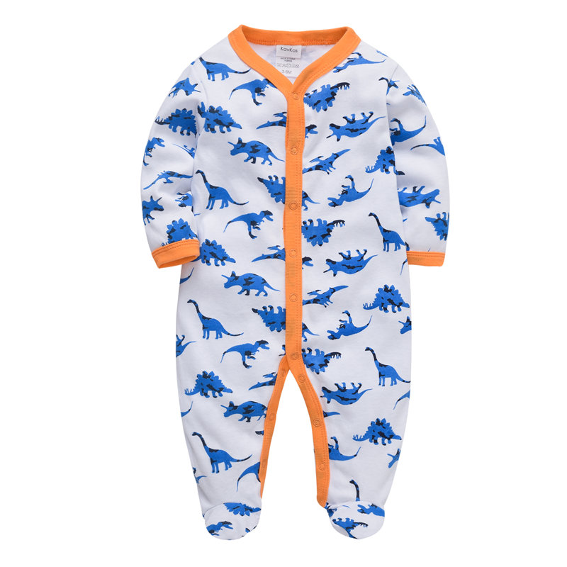 2019 Autumn Baby Boys Clothes Long Sleeved Girls Baby Romper Cotton Newborn Body Suit Baby Pajama Boys Animal Cartoon Jumpsuits