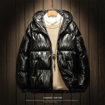 2019 Fashion Hooded Winter Padded Hooded Jacket Mens Parkas Winter Cotton Warm Snow Parka Men Manteau Homme Hiver Coats JJ60MF