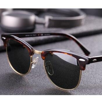 Real Glass lens UV400 men women Sunglasses 3016 retro driving Sun glasses Luxury desig Brand Rivet Design Goggles Elegant Female 1