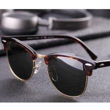 Prawdziwe szkło soczewki UV400 mężczyźni kobiety okulary 3016 retro jazdy okulary luksusowe projekt marka konstrukcja nitów gogle elegancka kobieta