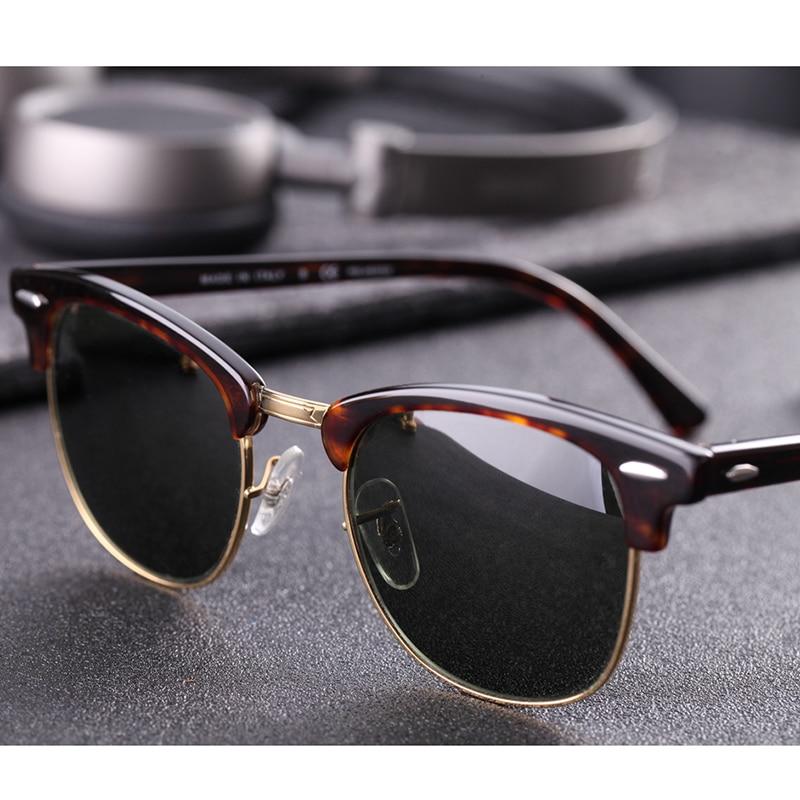 Real Glass Lens UV400 Men Women Sunglasses 3016 Retro Driving Sun Glasses Luxury Desig Brand Rivet Design Goggles Elegant Female