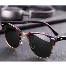 حقيقي زجاج عدسة UV400 الرجال النساء نظارات 3016 ريترو القيادة نظارات شمسية فاخرة desig ماركة برشام تصميم نظارات أنيقة الإناث