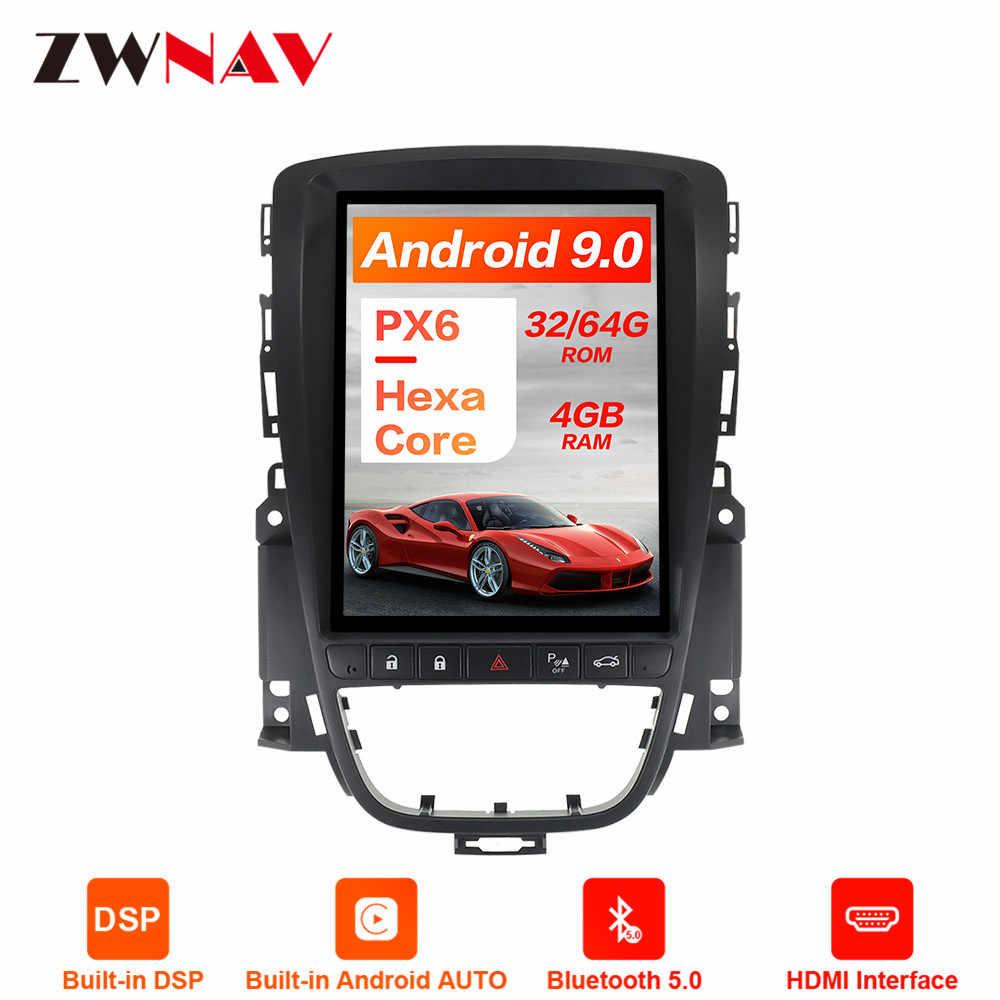 PX6 Android 9 4 Гб DSP Tesla стиль Автомобильный gps навигация для OPEL Astra J 2010 + мультимедийный плеер Авто головное устройство с радио магнитофон