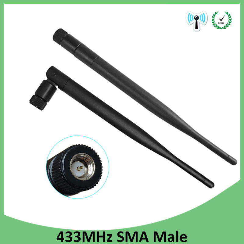 2pcs 433MHz Antenna 5dbi SMA Male Connector Folding 433 Mhz Antena Waterproof Directional Antenne Wireless Receiver For Lorawan