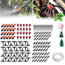 15M DIY Sprinkler Drip Irrigation System 164PCS Automatic Watering Kits with Adjustable Dripper for Orchard and Home Garden
