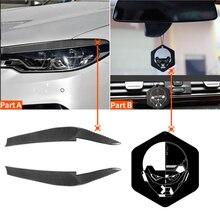 For BMW 5 Series G30 G38 530i 540i M550i 2017-2020 Soft Real Carbon Fiber Headlight Eyebrow Eyelids Decoration Strips Sticker