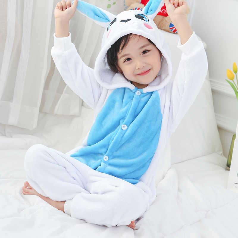 フランネル着ぐるみ Onesies 子供パジャマ 2019 冬の着ぐるみ猫パジャマガールズボーイズコスプレパンダユニ