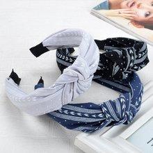 Hair Bands Sweet Women Cloth Knotting Fashion Leaves Wide Hairband Headband Cute Girl Hairbands Yoga Accessories