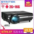 BYINTEK MOON BT96Plus Android Wifi Smart Video 1080P светодиодный проектор для Full HD домашнего кинотеатра Поддержка 4K онлайн видео