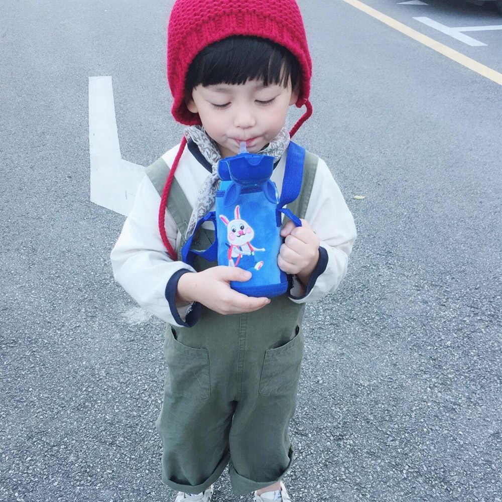 500 мл, детский термос из нержавеющей стали с милым Кроликом, 316, бутылка для воды, вакуумная колба, мультяшная чашка с изоляцией, спортивный чайник, детский подарок
