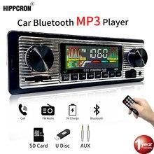 Hippcron Auto Radio 1 DIN Stereo FM Bluetooth MP3 60Wx4 Audio-Player Handy Handfree Digital USB/SD Mit In dash Aux Eingang