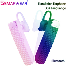 Smart Voice Translator Bluetooth Headset 30 Languages Instant Translate Bluetooth5.0 Wireless Earphone Real-time Translation T2 multifunction wireless instant translation business bluetooth in ear earphone 16 languages any conversion for ios android
