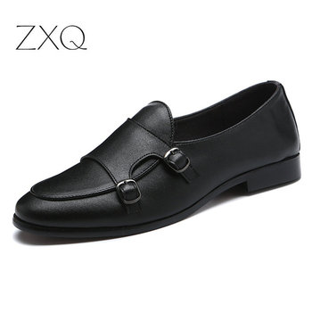 Italian Mens Shoes Casual Brands Slip On Formal Shoes Double Buckle Men Loafers Moccasins Genuine Leather Driving Shoes mycolen camouflage genuine leather men shoes luxury brand loafers italian mens shoes men casual black slip on moccasins flats