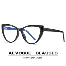 AEVOGUE-gafas antiluz azul para mujer, anteojos con montura óptica TR90, gafas graduadas KS115