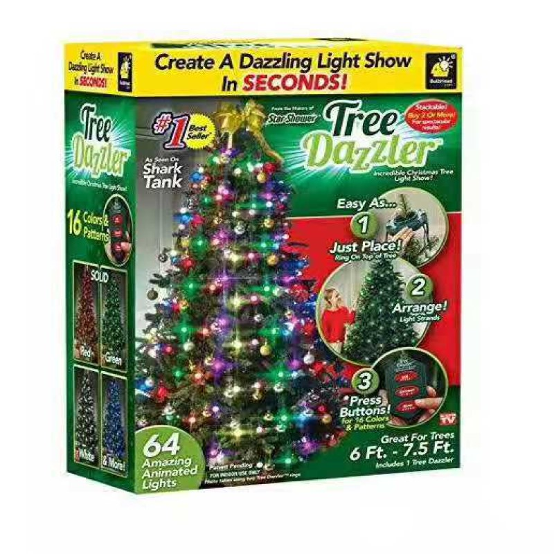 Christmas Tree LED Garland Light Color Night Lights Garden Decorated Christmas Tree Decorated Lights String LED Holiday Lights