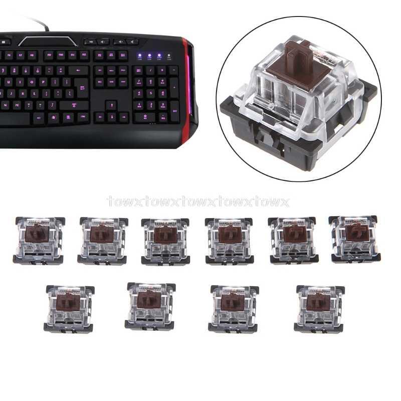 10 قطعة 3 دبوس كيكابس البني/الأزرق الميكانيكية لوحة المفاتيح التبديل ل الكرز MX لوحة المفاتيح O24 19 دروبشيب