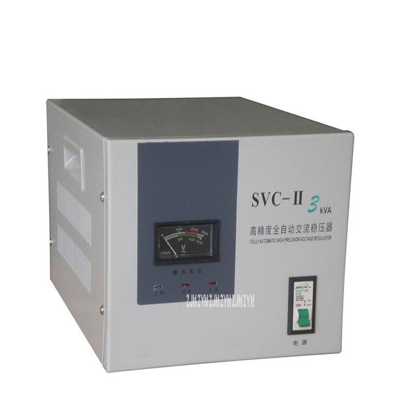 SVC 3KVA bobina de cobre alta precisão regulador de tensão do agregado familiar totalmente automático ar condicionado monofásico regulador de tensão