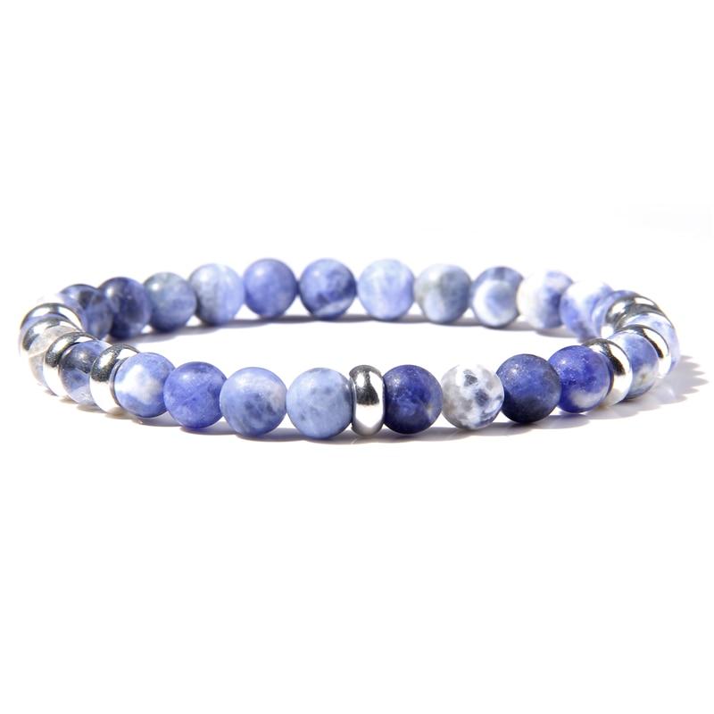 Classic Natural Stone Onyx lapis lazuli Beads Bracelet 6mm Round Tiger Eye Beads Yoga Bracelet Jewelry for Women Men Gifts