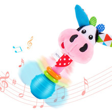 Baby Rattles For Newborns 0 12 Month Infant Soft Plush Mobile Rattles Toys Girls Musical Crib Mobile Montessori Rattle Boys Gift