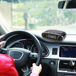 Inteligentny samochód TPMS w czasie rzeczywistym detekcja opon słonecznego monitorowanie ciśnienia System LCD cyfrowy alarm bezpieczeństwa systemu w Systemy monitorowania ciśnienia w oponach od Samochody i motocykle na