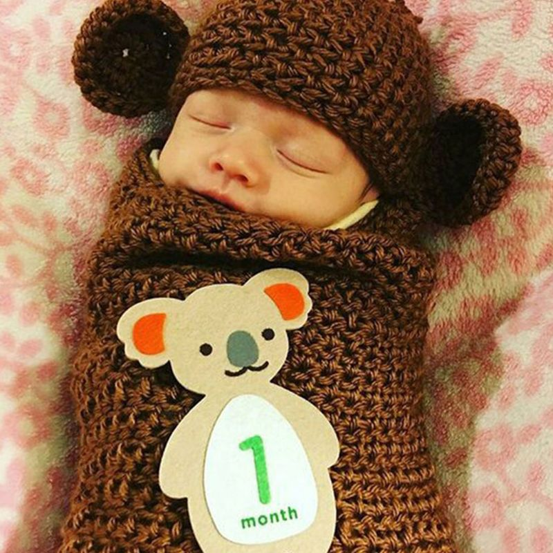 1-12 Months Baby Monthly Milestone Sticker Baby Photography Props Photo Stickers E65D