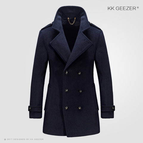 Mens Coat Winter Wool Mens Jackets and Coats Famous Brand Casual Parka Flannel Fashion Woollen British Business Longer Cashmere Lahore