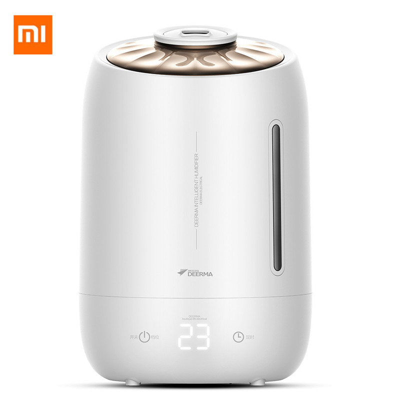 Xiaomi Deerma 5l Air Home Ultrasonic Humidifier Touch Version Air Purifying For Air-conditioned Rooms Office Household D5
