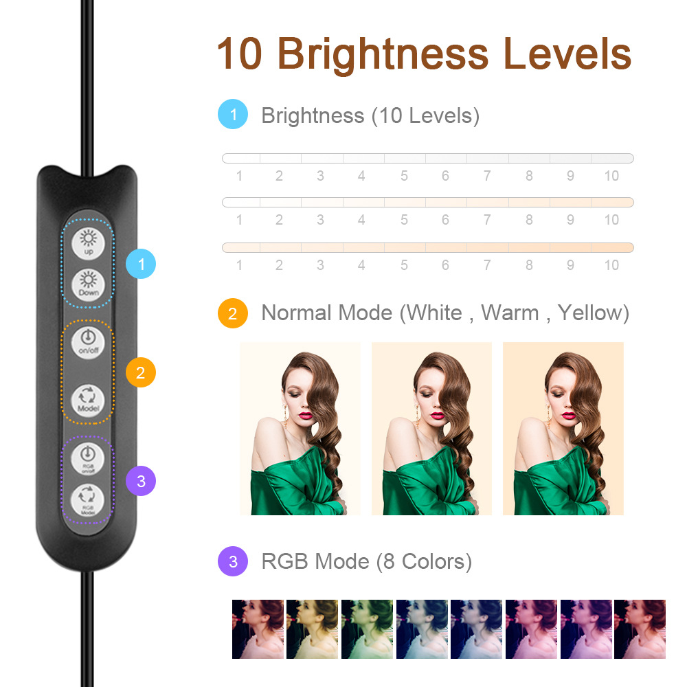 cheapest Selfie LED Ring Light Rechargeable Portable Clip Fill Light for Phone Tablet Video KQS8