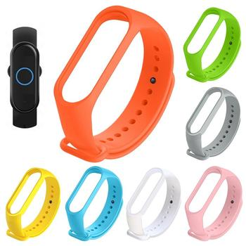 Solid Color Smart Watch Band Soft Replacement Wrist Strap for Xiaomi Mi Band 5 Watch Band Soft Replacement Wrist Strap Watch Ban image