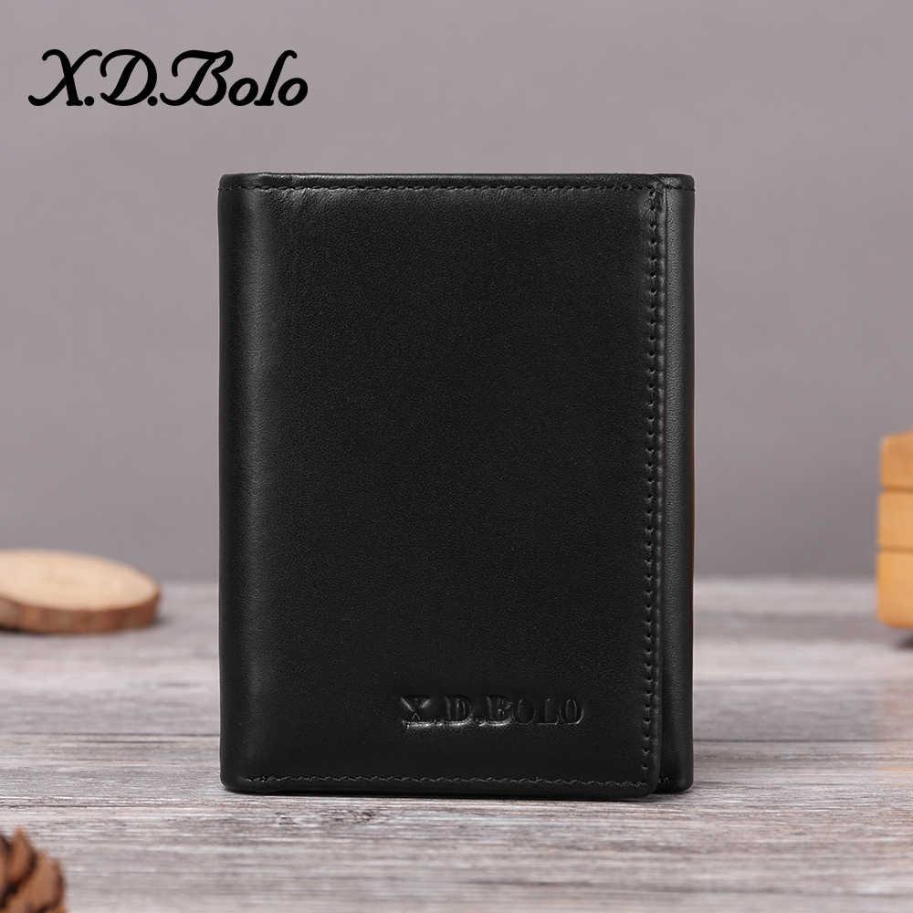 XDBOLO 2020 Männer Brieftasche Aus Echtem Leder herren Leder Geldbörse Karte Halter Männlichen Brieftasche Zipper Münze Tasche Geldbörse Großhandel