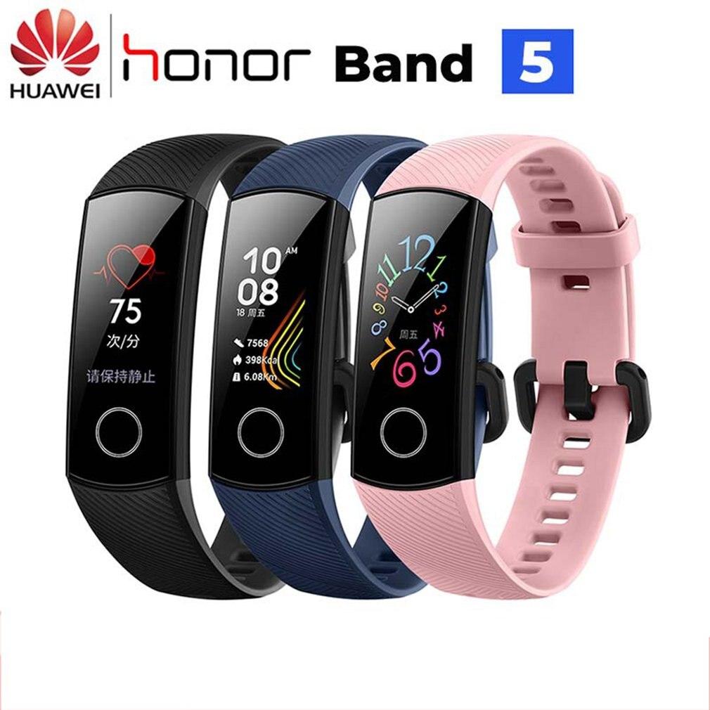 Original Honor Band 5 4 Smart Wristband Oximeter AMOLED Touch Color Screen Swim Posture Detect Waterproof Honor Band Smart Band