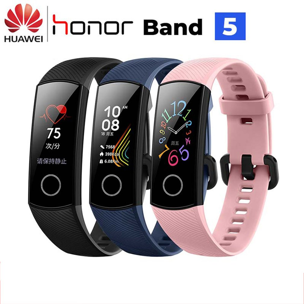 Original Honor Band 5 4 Smart Wristband Oximeter AMOLED Touch Color Screen Swim Posture Detect Waterproof Honor Band Smart Band