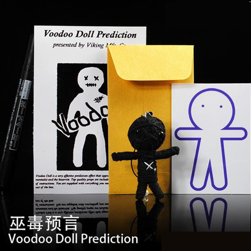 Voodoo Doll Prediction Gimmick Fantasy Supernatural Prophecy,Street Magic,Close Up Magic,Mentalism,Magic Tricks