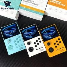"""Powkiddy a19 console de jogos, handset melhorado 3.5 """"tela ips 3d novo jogo psp embutido 3000 wifi baixável caixa de jogos da pandora"""