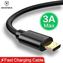 Кабель Micro USB для быстрой зарядки SmartDevil 3A для huawei Xiaomi power Bank зарядное устройство Android мобильный телефон компьютерный кабель для передачи данных