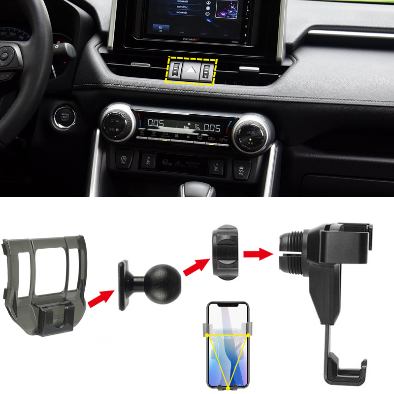 Fit for Toyota RAV4 XA50 2019 2020 Car Styling Accessories Mobile Cell Phone Holder Car Air Vent Mount Cradle Stand