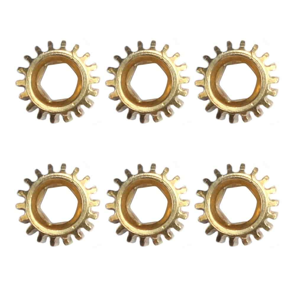 6pcs Hexagonal Open Gear Tuners Tuning Pegs Machine Heads Mount Hex Hole 1/18 Gears for Guitar Instrument